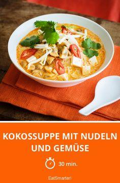 Kokossuppe mit Nudeln und Gemüse - smarter - Zeit: 30 Min. | eatsmarter.de
