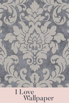 Set on a sumptuous hard wearing texture, this timeless damask design is brought to life with areas of metallic and touches of real glitter. This contemporary finish oozes finesse and is suited to most interior colour schemes. It has been designed to be simple to hang, is strippable and has good light fastness. Damask Wallpaper, Glitter Wallpaper, Love Wallpaper, Pattern Wallpaper, Interior Color Schemes, Colour Schemes, Beige, Grey, Colorful Interiors