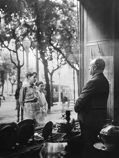 Alfred Hitchcock in San Sebastián, Spain. July, 1959.