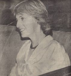 July 28, 1981. Lady Diana Spencer at Clarence house while the Royal family celebrate with a fireworks display.