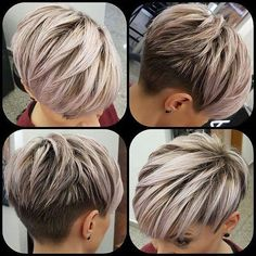New Pixie Haircut Ideas in 2019 - The UnderCut Neue Pixie-Haarschnitt-Ideen im Jahr 2019 - The UnderCut de cheveux courts Pixie Hairstyles, Latest Short Hairstyles, Short Layered Haircuts, Cute Hairstyles For Short Hair, Pixie Haircut Styles, Pixie Styles, Short Pixie Cuts, Short Hair Long Bangs, Undercut Pixie Haircut
