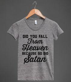 Falling from Heaven #heaven, #satan, #flirt, #sassy, #sass