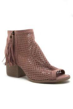 Peyton Pink Block Heel Booties www.piperstreetshop.com