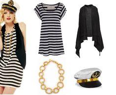 Marinheira. Outra opção de fantasia super cool e confortável, segundo a dupla de fashionistas, é a de marinheira. Aposte naquelas peças com estampa navy que você tem no guarda-roupa, desde listras a bolinhas.