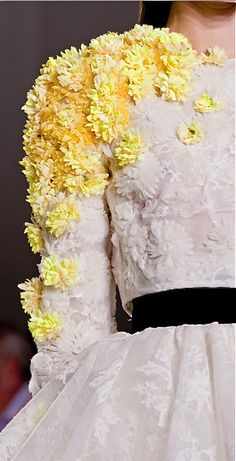 """""""You know that flowers are my obsession"""" - Giambattista Valli #2016"""