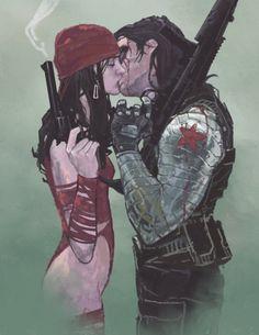 Winter Soldier and Elektra - Dave Seguin