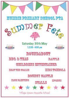 School Fair Pta Fete Ideas Summer Poster Designs Teacher Organization Parties Fundraising