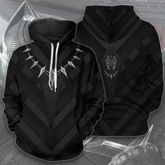 Black Panther Hoodie, Creative T Shirt Design, Hooded Sweatshirts, Hoodies, Chill Outfits, Zip Ups, Shirt Designs, Character Design, Cosplay