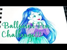BALLPOINT PEN CHALLENGE! (See my sketching process!)