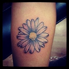 Daisy flower tattoo beautiful