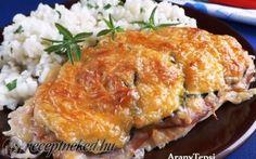 Sajtos-sonkás-cukkinis csirkeszelet recept fotóval