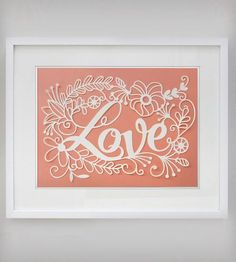 Love Papercut Art by Epic Layers on Scoutmob Shoppe