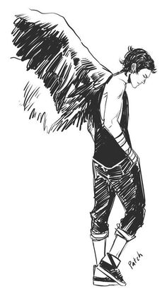 Imagen de hush hush, angel, and patch