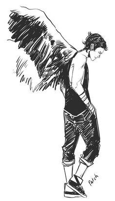 Imagen de hush hush, angel, and patch