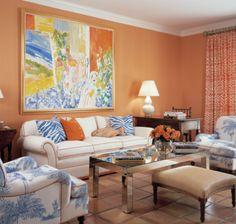 Wandfarbe Ideen Wohnzimmer Einrichten Frische Blaue Elemente