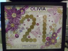 A keepsake for a beautiful young lady with 21 pound coins in case of emergency - go on count them to make sure!!