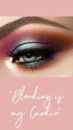"""Blending is my Cardio"" 🖌💪 Coastal Scents, Eye Makeup Brushes, Natural Looks, Cardio, Eyeshadow, Lipstick, Beauty, Eye Shadow, Lipsticks"