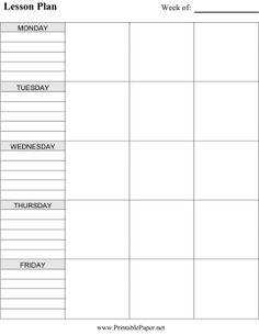printable lesson plan calendar