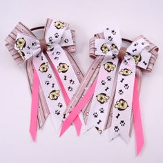 Puppy Dog Equestrian - Pluff Bows Boutique Bows, Bow Ties, Equestrian, Hair Bows, Dogs And Puppies, Hairbows, Bowties, Horseback Riding, Hair Ornaments