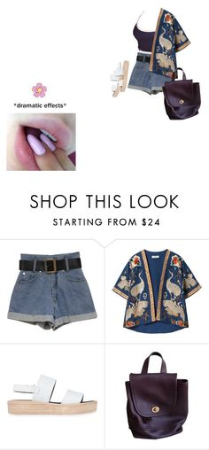 """summer's a comin"" by progredi ❤ liked on Polyvore featuring Franklin, Zara, Tony Bianco and Coach"
