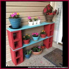 Dollar Store Crafter: Cinder Block Plant Stand / Shelf