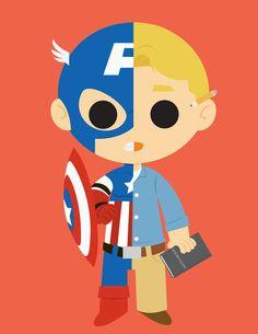 Captain America/Steve Rogers---Avengers Created by Genjyo Sanzo (Via: ge-ek) | HeroChan