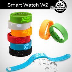 W2 LED Digital Sports USB WristWatch Silicone Band Smart Watch For Kids Women…