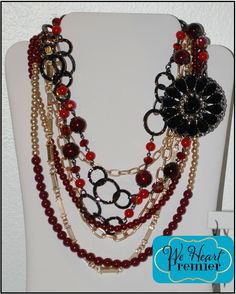 Work It and Very Berry necklaces with Crochet removable pin #pdcombo