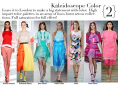 London Spring 2014 Top Trends - Kaleidoscope Color