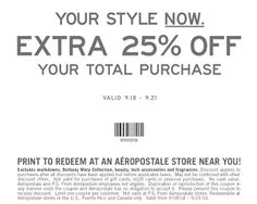 Aeropostale coupons & Aeropostale promo code inside The Coupons App. Extra off everything at Aeropostale, or online via promo code March Free Printable Coupons, How To Apply, How To Get, Aeropostale, Everything, September, Coding, Printables, Hot