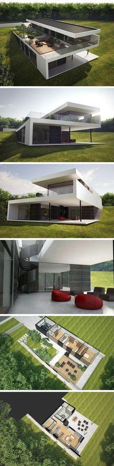 Superbes volumes pour cette maison toit terrasse contemporaine http://www.edifit.fr #maison #toit #plat #terrasse #aménagement #jardin #ToitPlat #ToitTerrasse #ToitTerrasseAménagement #ToitTerrasseMaison #MaisonToitPlat #MaisonToitTerrasse