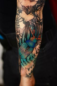 Beetle Tattoo, Bug Tattoo, Insect Tattoo, Hot Tattoos, Body Art Tattoos, Sleeve Tattoos, Tattos, Belly Tattoos, Tattoo Art