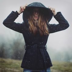 play in the snow in you warmest hooded coat.