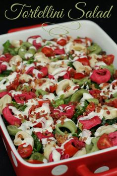Super YUMMY and easy Tortellini Salad perfect for summer time { lilluna.com } #salad #tortellini