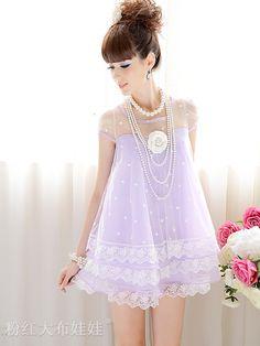 purple short - sleeved dress -  http://zzkko.com/book/shopping?note=21921 $24.15