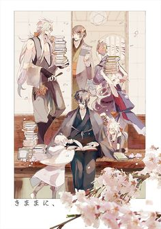 三条+五条 Mutsunokami Yoshiyuki, Man Illustration, Hot Anime Boy, Touken Ranbu, Doujinshi, Cute Cartoon, Japanese Art, Akira, Manga Anime