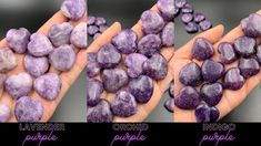 Lepidolite purple pocket heart crystals! Choose your fav purple color or create a full purple set! Lepidolite's lithium and mica elements are perfect for providing calming energies during anxious moments. Lepidolite is a great meditation crystal to use for third eye work, parallel life meditations and to relieve stress after a long hard day. #crystals #crystalhealing #lepidolite #selfcare #selflove #meditation #yoga #tarot #purplelover Reiki Chakra, Chakra Crystals, Parallel Lives, Meditation Crystals, Healing Crystal Jewelry, Mini Heart, Crystal Collection, Third Eye, How To Relieve Stress