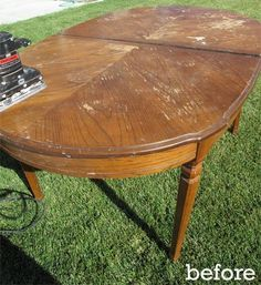 Before & After: Diy Dining Table Rehab — Little Miss Penny Wenny