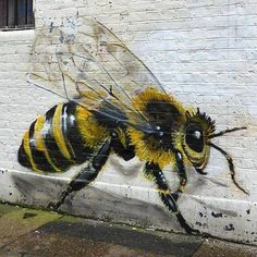 "Street art   Mural ""Honey"" by Masai [Louis Michel]"