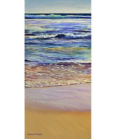 Shirley Fisher Australian artist Eventide landscape seascape painting lovely colours beach water waves tides