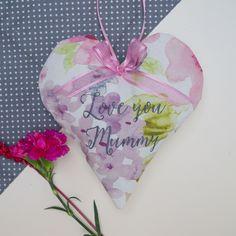 Floral Mother Heart Light Pink