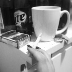 Coffee, cigarettes, beer. Breakfast of champions.