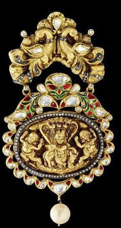 temple jewellery by Sunita Shekhawat, Jaipur