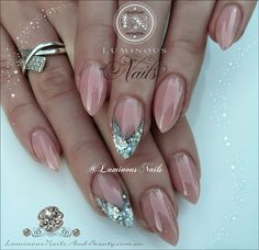 Luminous Nails: Nude & Silver Nails...