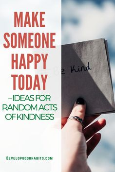 Make Someone Happy Today – Ideas for Random Acts of Kindness Doing random acts of kindness is an awesome antidote to negative experiences. It can lift your mood and leave you feeling inspired. In addition, an act of kindness can make someone's day. On a more dramatic scale, these small positive actions can change the course of a person's life or re-write history. Small things matter, get some ideas for random acts of kindness to add to your life today. Happy Today, Happy Life, Are You Happy, Self Help Skills, Happiness Comes From Within, Self Acceptance, Body Love, Random Acts, Life Advice
