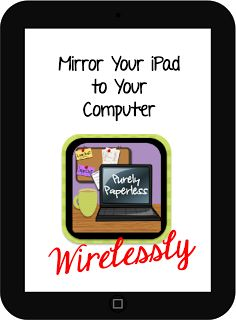 Purely Paperless: Mirror Your iPad to Your Computer Wirelessly by Sunflower fibers Teaching Technology, Technology Integration, Educational Technology, Assistive Technology, Classroom Organization, Classroom Management, Classroom Ideas, Music Classroom, Google Classroom