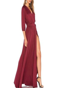 CLASSIC AND GORGEOUS.  YOU'LL BE STUNNING IN THIS WRAP DRESS.  Actual color shown image 3    MODAL JERSEY  92% MODAL/8% SPANDEX  DRY CLEAN RECOMMENDED  MADE IN THE USA  AVAILABLE COLORS: Wine      Ingrid Dress by Rachel Pally. Clothing - Dresses - Wrap Dress Mexico