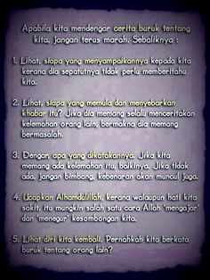 Apabila kita mendengar cerita buruk ttg kita Honesty Quotes, Life Quotes, Quotes Indonesia, Bettering Myself, Meaningful Quotes, Be Yourself Quotes, Just Love, Quran, Wise Words