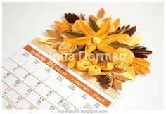 Inna's Creations: Calendars decorated with quilling