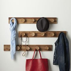 Denton Wall Mounted Coat Rack  | Crate and Barrel